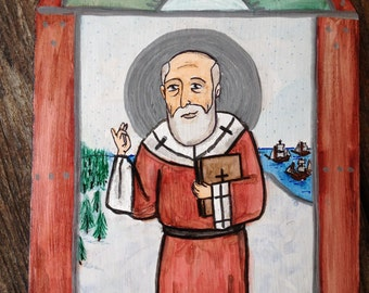 Retablo of Saint Nicholas ***SOLD***