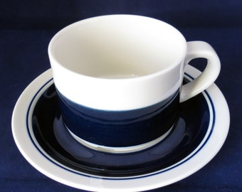 Arabia of Finland, Kasino, Tea cup and saucer.