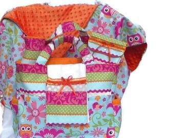 Girl Owl Print Diaper Bag Set