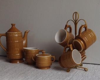 Vintage Japan ceramic 8 piece coffee/tea pot set