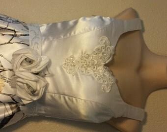 Wedding dress with detachable Camo skirt