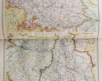 Huge 1922 Antique Map, India, Indian Provinces of the Lower Ganges