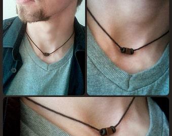 Tribal Man Hemp Choker Necklace