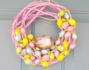Easter Wreath, Easter egg wreath, Spring Wreath, easter wreaths, springtime wreath, spring decor, egg wreaths, Easter decor, easter eggs