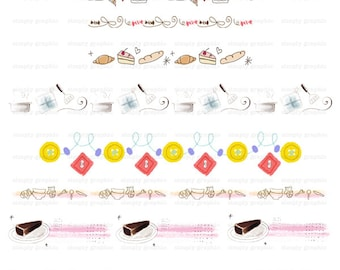 Digital Design Element, Bakery Sign, Bread, Cake, Cooking, Digital Border, Food Clipart, Instant Download, Embellishment, Printables c204