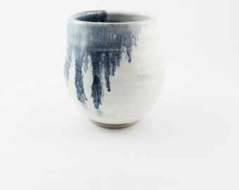 Blue Dripped Porcelain Cup