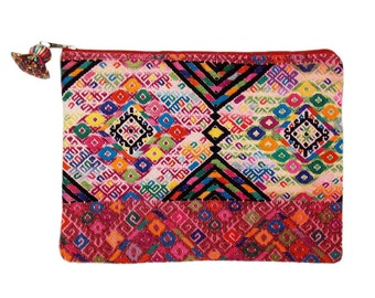 SALE Clutch Purse//Vintage Fabric//Hand Embroidered//Guatemalan