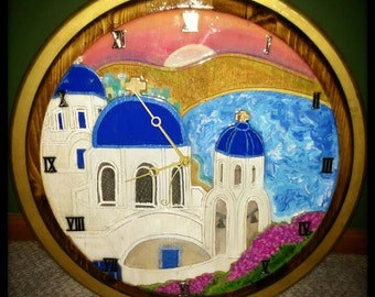Santorini Clock