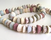 71 Cone Ceramic Beads - pastel colors, matte beads, rustic style, unique beads