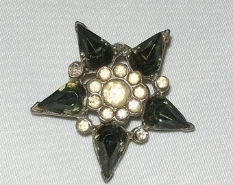 Star Pin or Broach with Rhinestones