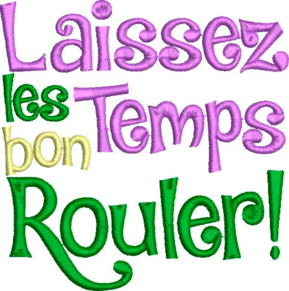 items similar to laissez les bon temps rouler embroidery design on etsy. Black Bedroom Furniture Sets. Home Design Ideas