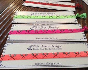 Lacrosse Headbands -  Elastic with 11 color choices - Lax Girls!   Stretchy, colorful and comfortable!