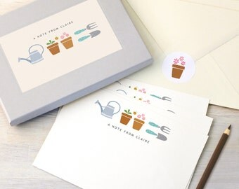 Personalised Gardening Notecards Writing Set