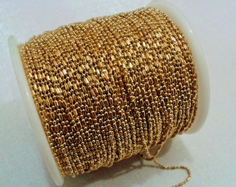 16,5 Feet - 5 Meter 1.2 mm Raw Brass Ball Chain -1.2 mm Ball Chain