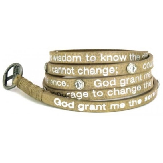 taupe serenity prayer wrap bracelet by soulspiritgifts on etsy
