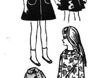 "Little Sister Wardrobe Pattern for 9"" Dolls"