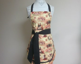 """Classic """"World of Wine"""" Apron Fully Lined"""