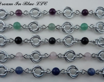 Beaded Mobius Bracelet, Anklet or Necklace