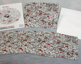 Albino Ladybug Hemp + Recycled Greeting Cards Pack Of 6