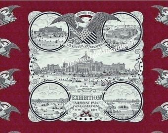 "Fairmount Park Industrial Revolution Fabric Panel~Nancy Gere~Windham~Philadelphia~23""x44"""