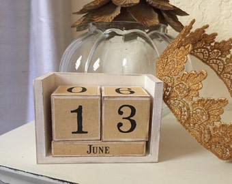 Date Calendar - Shabby Chic Event