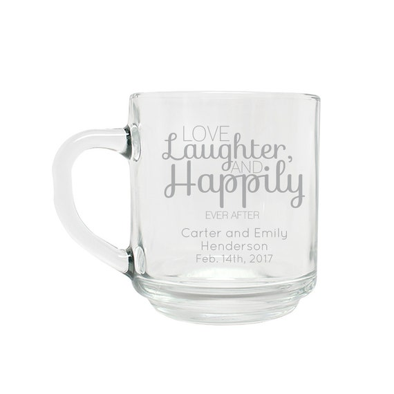Customized Wedding Coffee Mugs : ... Wedding Favors - Personalized Glassware - Personalized Coffee Mug