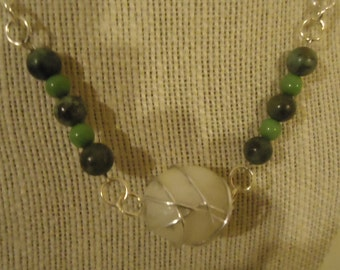 Wire Wrapped and Beaded Necklace