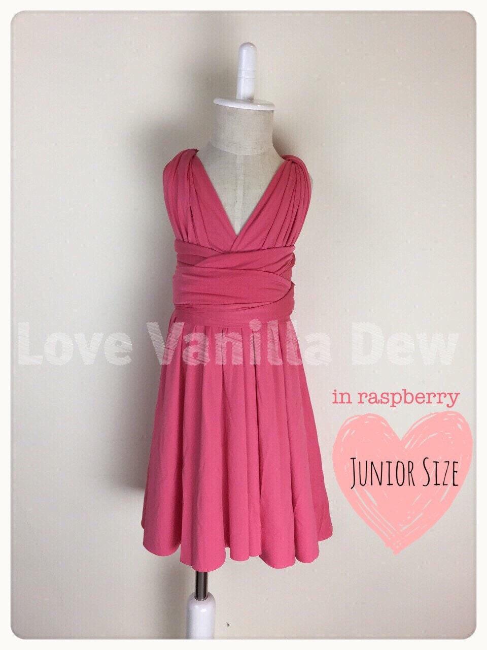 Junior bridesmaid dress infinity dress raspberry convertible zoom ombrellifo Images