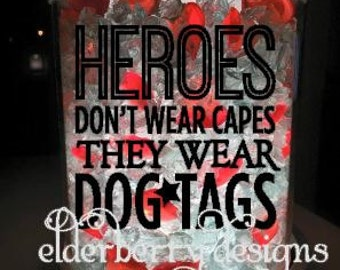 Scentsy Charmer decals- Heroes wear Dogtags