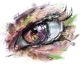 Printable eye digital art instant download