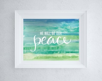 Christian Art, Peace, Bible Verse Printable Art, Instant Download, Christian Quote, Poster, Wall Art Decor, Digital Typography