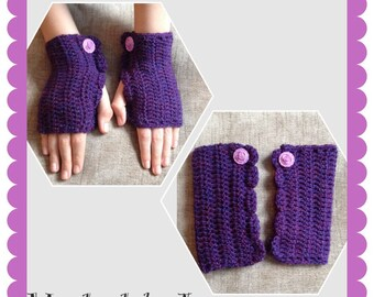 Crocheted Wrist warmers.