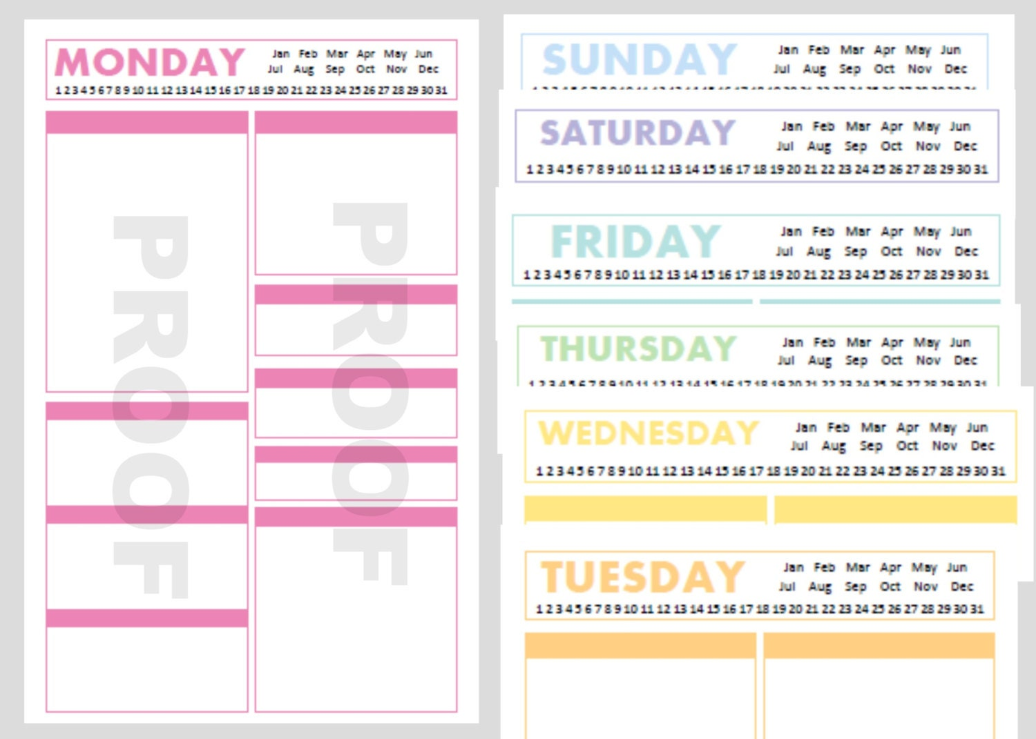 Printable A5 Planner Pages A5 Planner Inserts A5 by CommandCenter