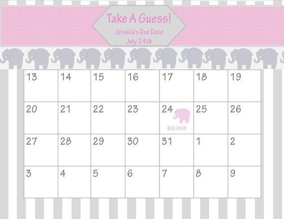 "... for ""Free Printable Calendar Guess The Due Date"" – Calendar 2015"