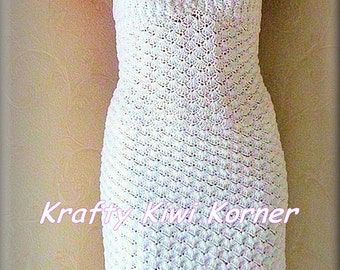 Crochet Lace Vintage-Inspired Shell Stitch Summer Short Dress- Made to Order