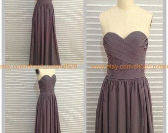 A line floor length Strapless Gray homecoming dress prom dress prom dress evening dress New Arrive