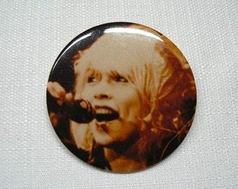 Vintage Late 1970s Debbie Harry Blondie Photo Button / Pin