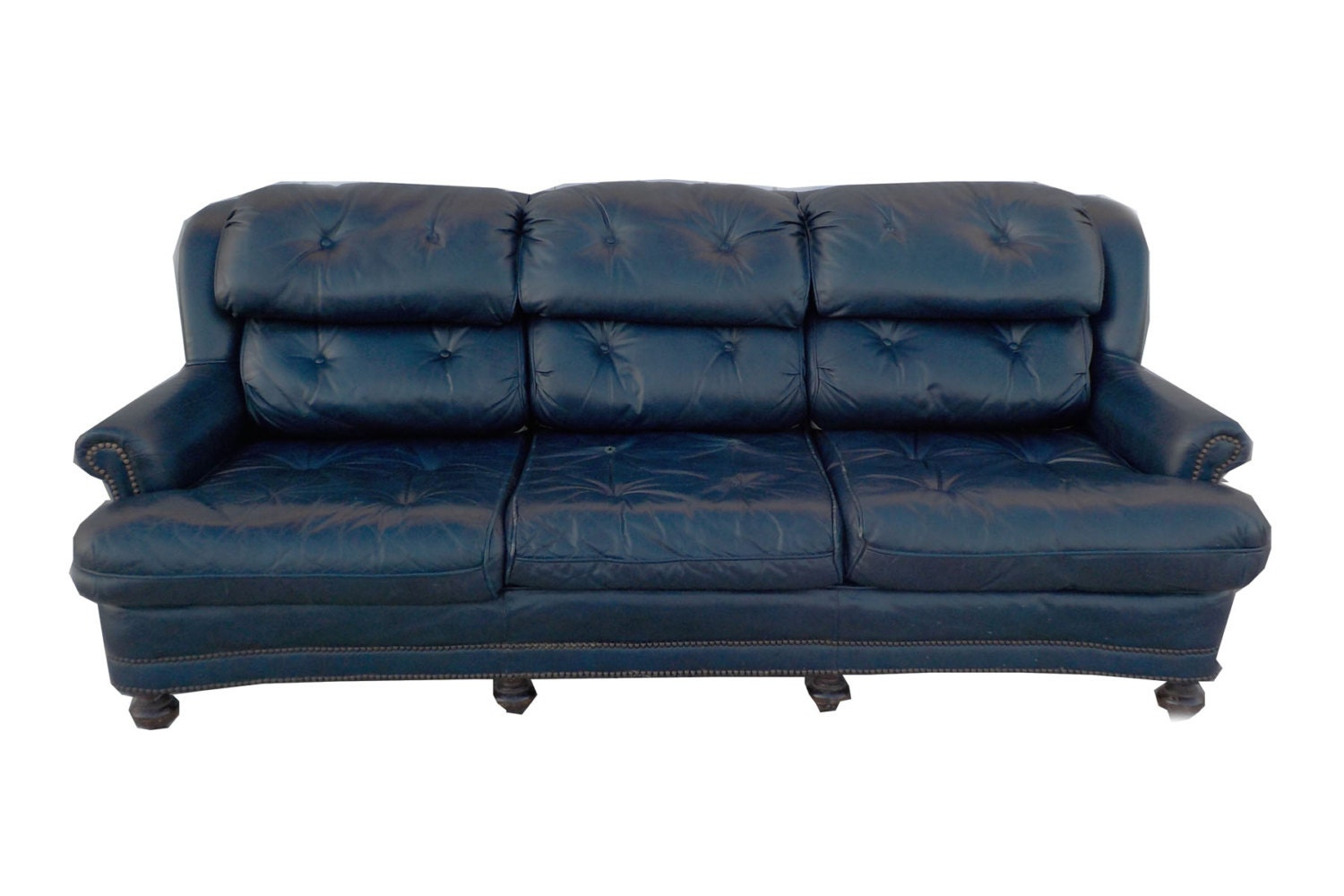 Blue leather sofa for Blue leather sofa
