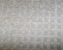 Grid Texture Fabric - Upholstery Fabric By The Yard - Cream and Light Gray Upholstery Fabric By The Yard