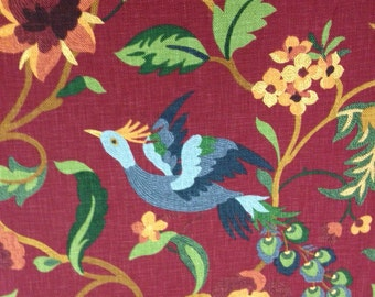 Lucy Bird Upholstery Fabric - Upholstery Fabric By The Yard - Bird Upholstery Fabric - Home Decor Fabric