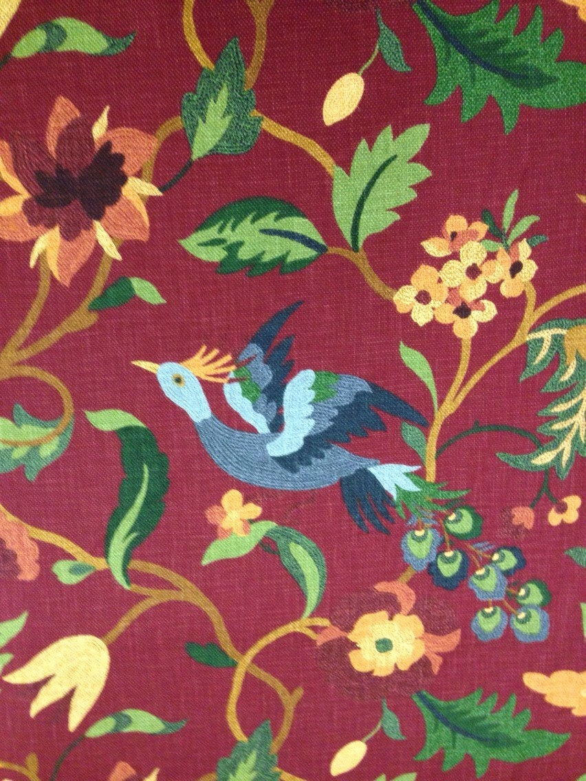 Lucy bird upholstery fabric upholstery fabric by the for Home decorating fabric by the yard