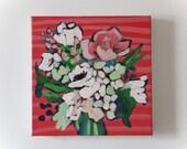 """8x8 Painting """"Little Bouquet 1"""""""