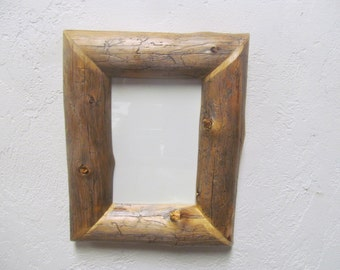 5 x 7 Rustic Picture Frame. Cabin Decor, Western Decor, Natural wood frame, reclaimed wood picture frame