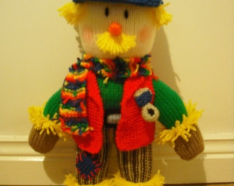 Hand Knitted Grandad/Grandpa Scarecrow Childrens Toy (from a Jean Greenhowe pattern)