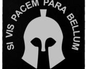 Molon Labe - Si Vis Pacem Helmet 3 Dog Tag