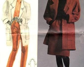 Vogue 1953 Well Dressed Woman's Jacket, Skirt & Pants 1980's / SZ12 UNCUT