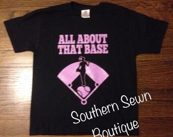 Ladies All About that Base Softball Player Short Sleeve T-Shirt