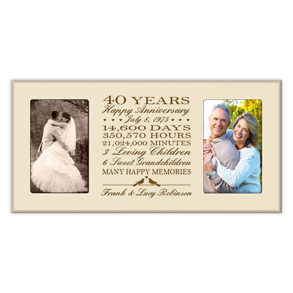 Special Gift For 40th Wedding Anniversary : Personalized 40th anniversary gift for him,40th wedding anniversary ...