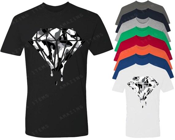 wei e camo diamant herren t shirt tropfte schmelzenden shirts. Black Bedroom Furniture Sets. Home Design Ideas