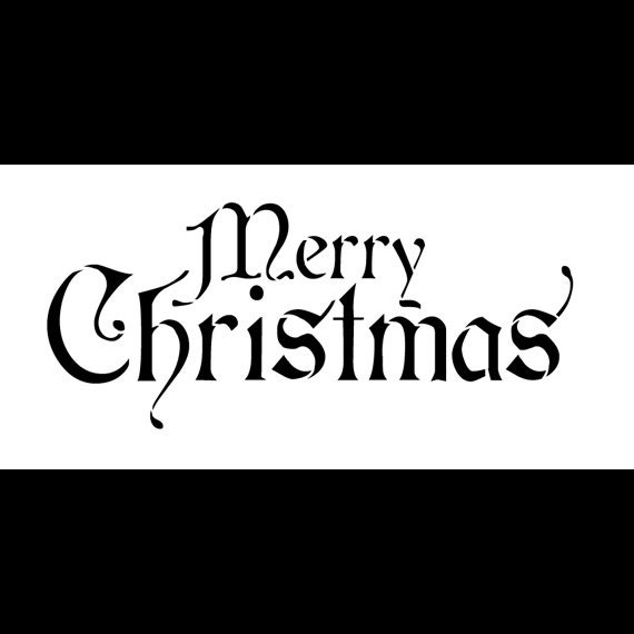 Word stencil merry christmas regal stacked 12 x 6 by studior12 for Merry christmas letter stencils